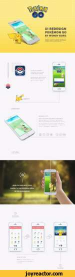 REDESIGNING THE EXPERIENCEUl REDESIGN POKEMON GOBY WENDY BORG IS A TRADEMARK OF NINTENDO. POKEMON GO IS A TRADEMARK OF NIANTIC. ALL ASSETS MADE, USING TRADEMARKS BELONGING TO EITHER, ARE USED UNDER FAIR USE.The redesign focuses primarily on recapturing the Pokemon experience of exploring,