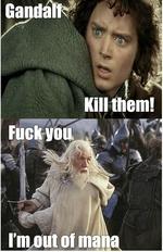 gandalf kill them! I'm out of mana