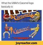 What the M&M's Caramel logo basically is