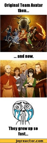 Original Team Avatar then...... and now.They grew up so fast...