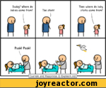 """Daddy? Where do babies cone iron?The stork) iffThen where do baby storks cone fron? S'tPosh! Posh! vnJ ) oll""""111 IT 1 *Cyanide and Happiness  Explosm.net"""