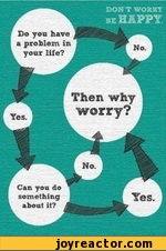 Do yon have a problem in your life?Then whyworry?Can you do something about it?