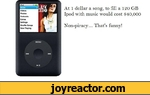 At 1 dollar a song, to fill a 120GB ipod with music would cost $40,000