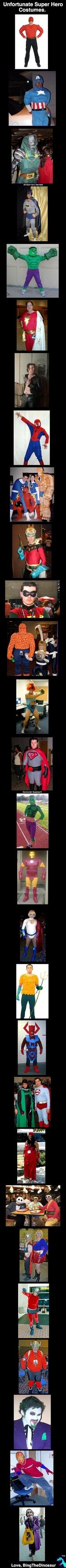 Unfortunate Super Hero Costumes