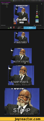 the amount of stahp posts is too damn high