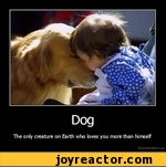 dog the only creature on earth who loves you more than himself