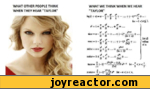 """WHAT OTHER PEOPLE THINK WHEN THEY HEAR """"TAYLOR""""WHAT WE THINK WHEN WE HEAR """"TAYLOR""""for < x  1.X S5&*'= ii + +"""" oicz a> * - -ft  + ... 4- (-!)-+ ...sr 61> (fti+DI, .lor eJ]** , * , , ^ v"""
