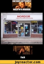one does not simply walks into mordor