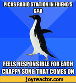 picks radio station in friend's car