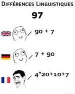 Diffrences Linguistiques97/90 + 77 + 904*20+10+7