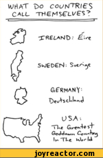"WHAT 1>o COUNTIES CALL THMS'Ll/'S?XRELAND: '-^eGERMANY-USA-.""TkfiGoddo.^*, Cow^i4>^ I* ~TLe >/- /d"