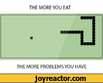 THE MORE YOU EATTHE MORE PROBLEMS YOU HAVE