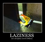 LAZINESSJust a derogatory word for efficiency